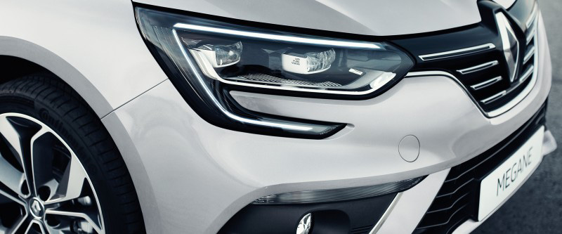 Megane Sedan Automatic dusk sensing headlights and rain sensing wipers