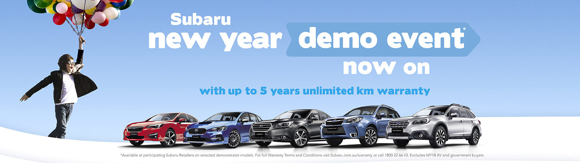 Up to 5 years Unlimited Km warranty