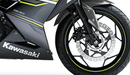 2017 Ninja 300 ABS Powerful Braking