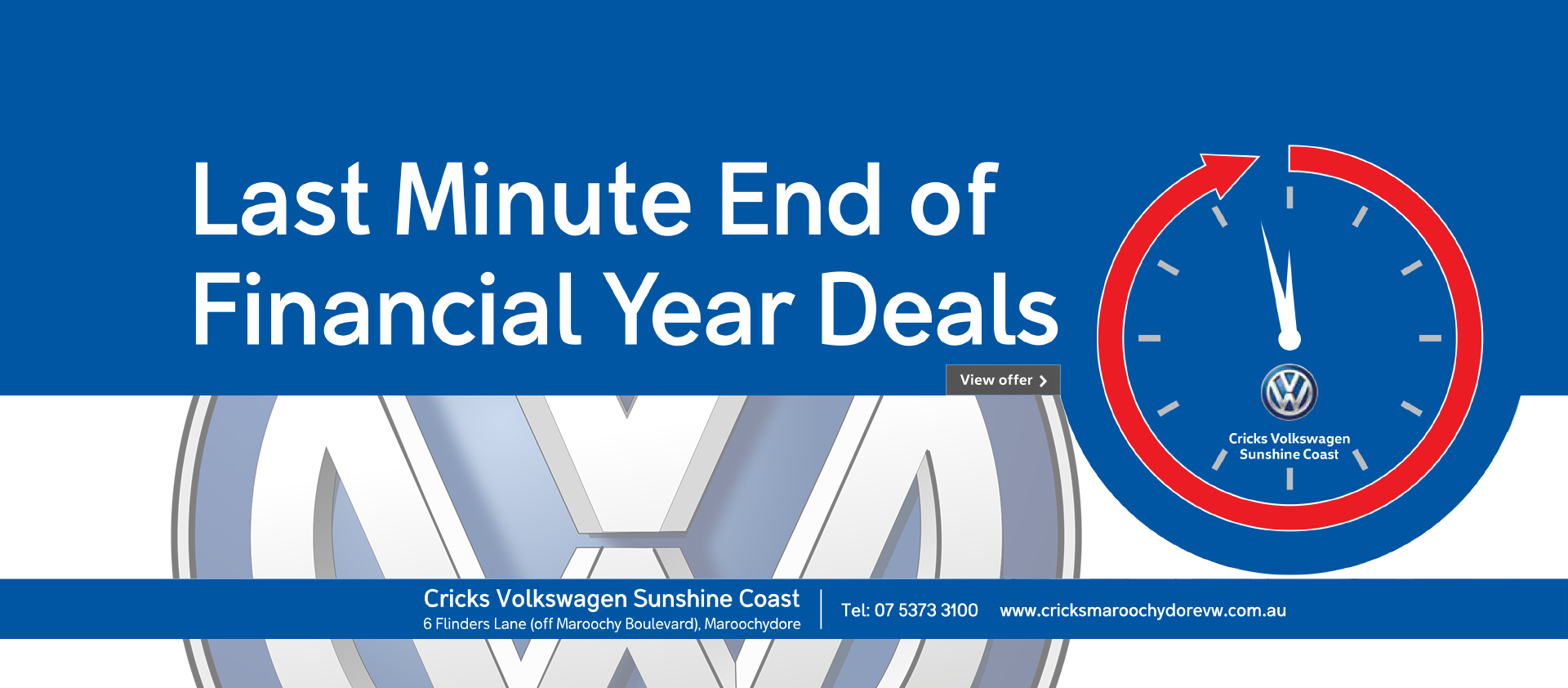 Last minute end of financial year deals on now