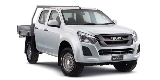 2018 Isuzu UTE D-MAX IO 4x4 SX Crew Cab Chassis Crew cab
