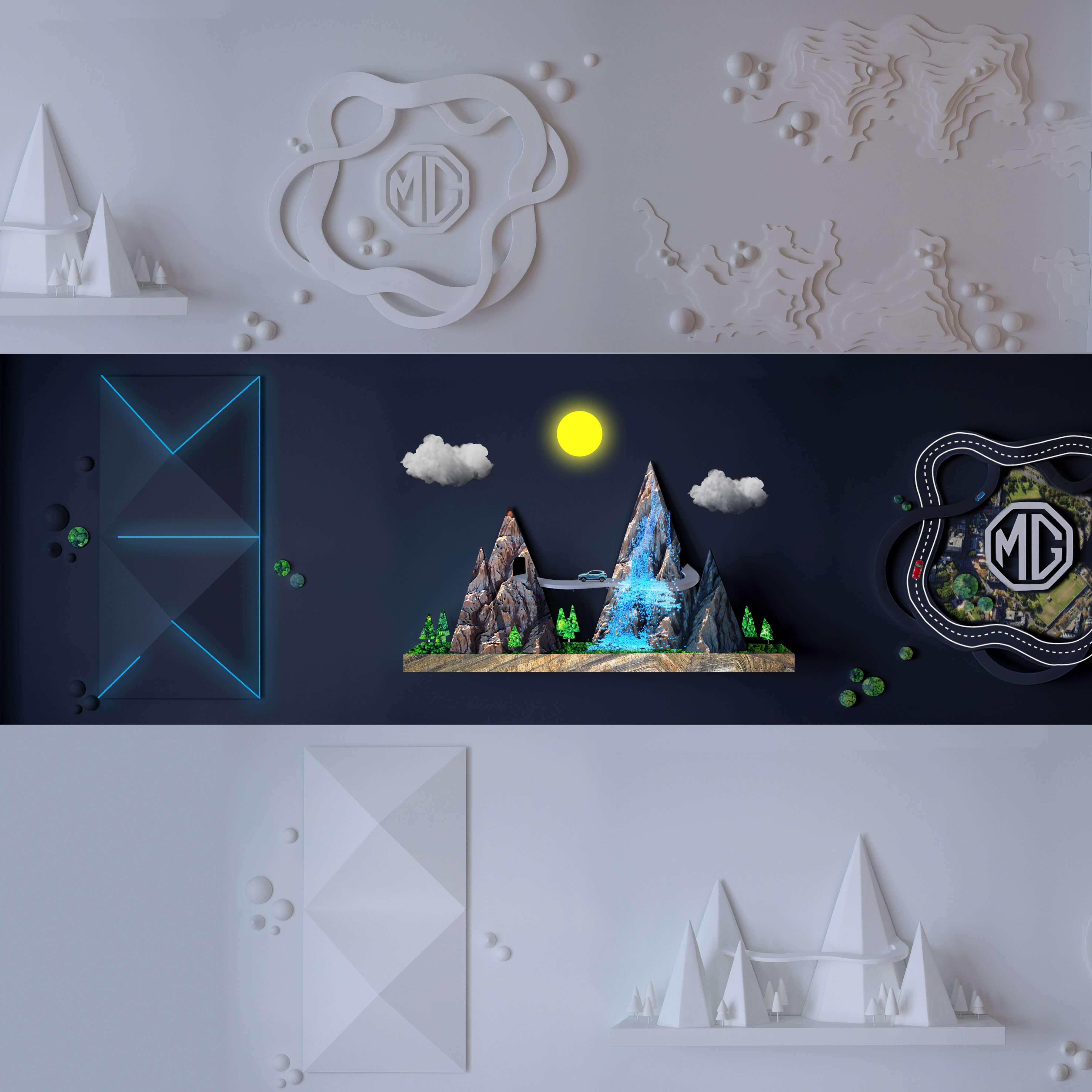 Innovative MG ZS EV wall sculpture wins five international design awards