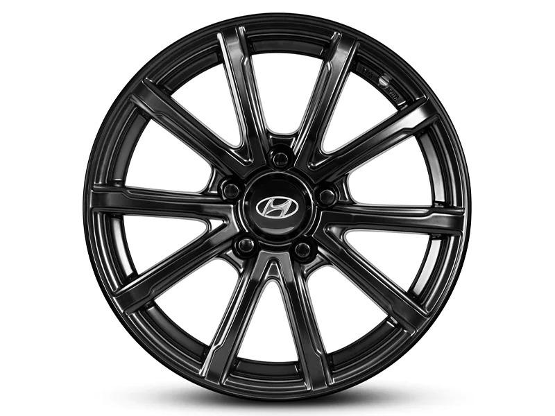 "<img src=""16"" Gunpo satin black alloy wheel"