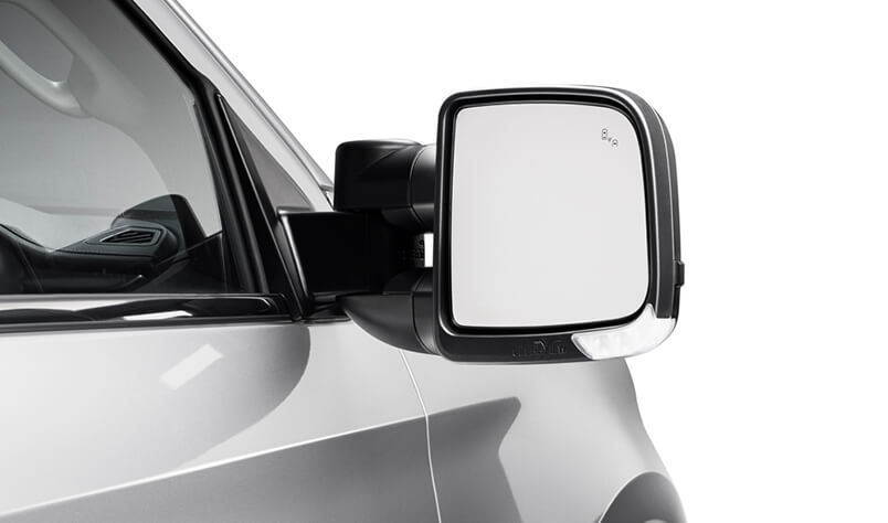 Clearview Compact Towing Mirrors - Power Fold - Black