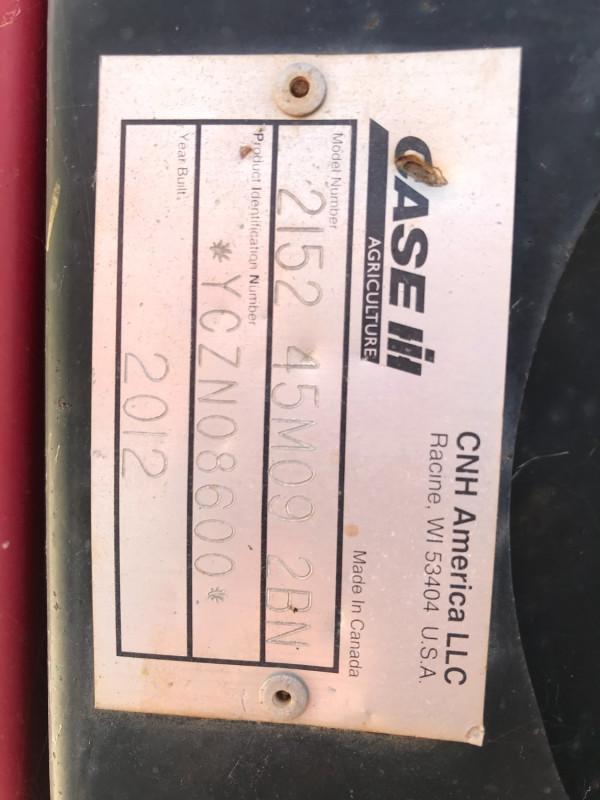 2012 Case IH 2152 FRONT Combine front & header
