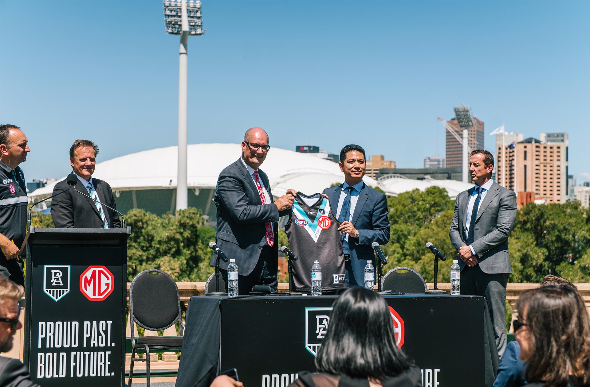 MG Motor Australia strikes multi-year partnership with Port Adelaide FC