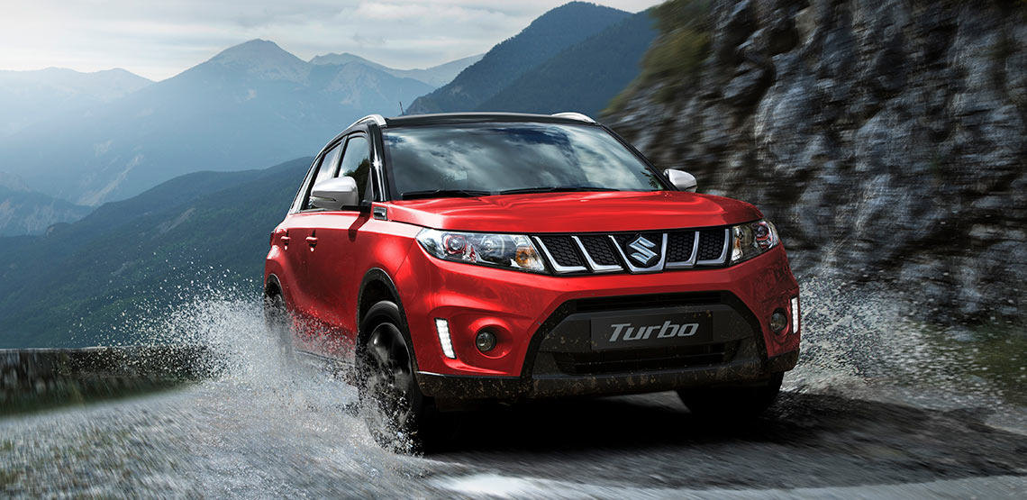 Major power lift and huge torque increase turbo charge choice in Suzuki's Vitara range