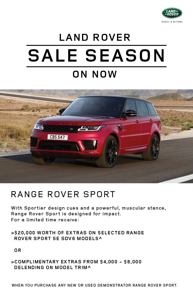 Land Rover Sale Season - Range Rover Sport