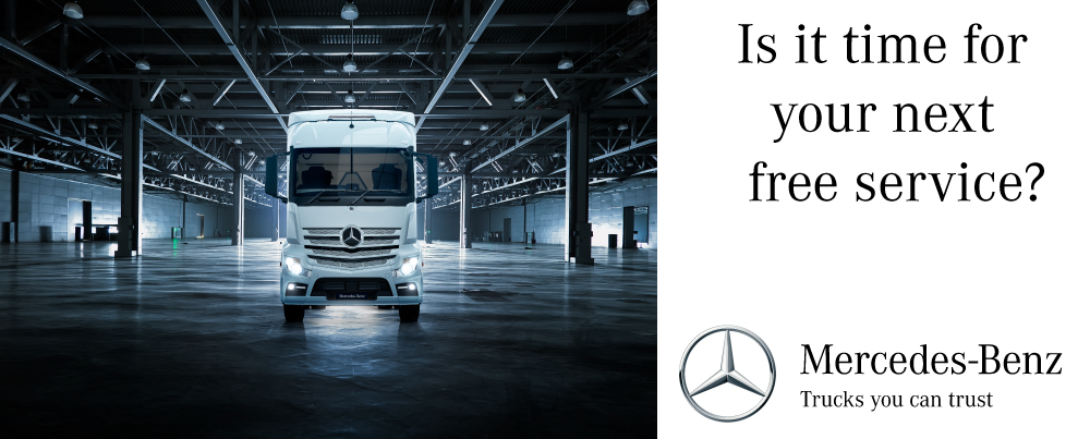 COMPLIMENTARY SERVICING FOR YOUR MERCEDES-BENZ TRUCK