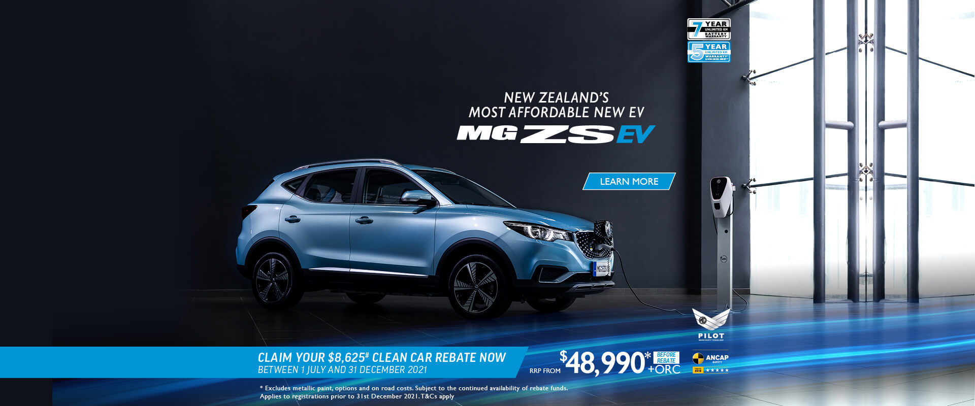 MG ZS EV. Claim your $8,625# Clean Car Rebate now*