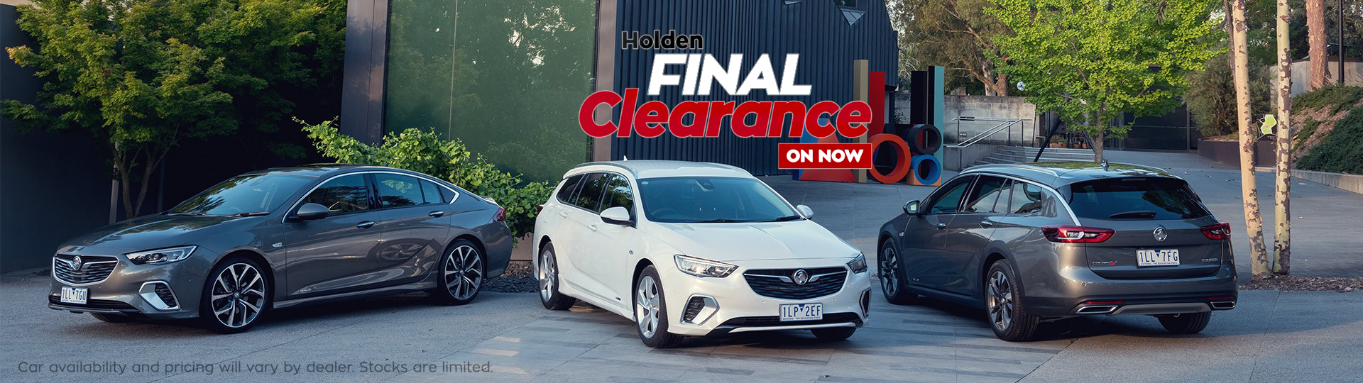 Holden Clearance Banner