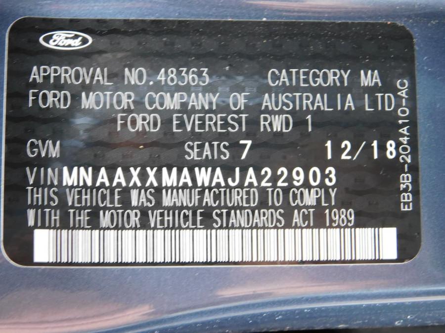 2018 Ford Everest UA II MY19 Ambiente Suv