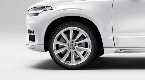 "Complete wheels, 21"" 10-Spoke Turbine Tinted Silver Diamond Cut Alloy Wheel - C013"