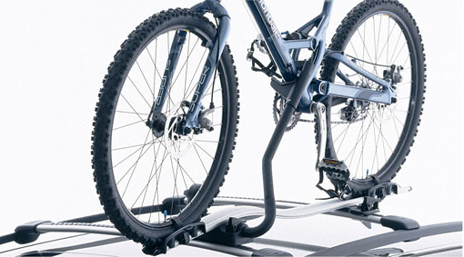 Bicycle holder, frame mounted, aluminium