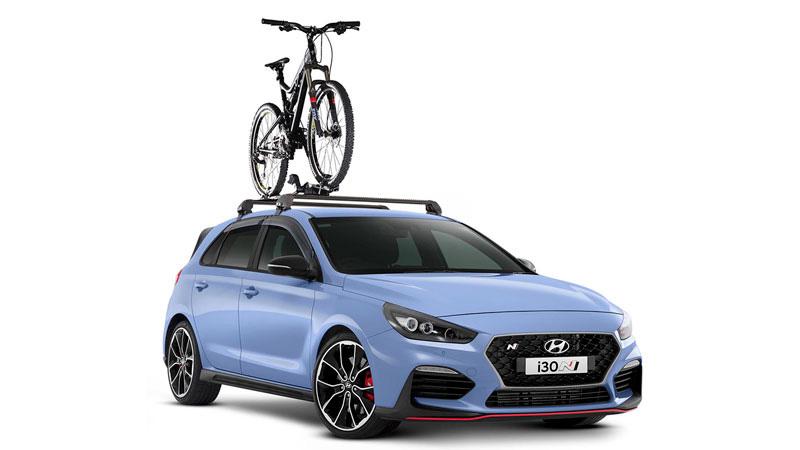Bike carrier - wheel on.