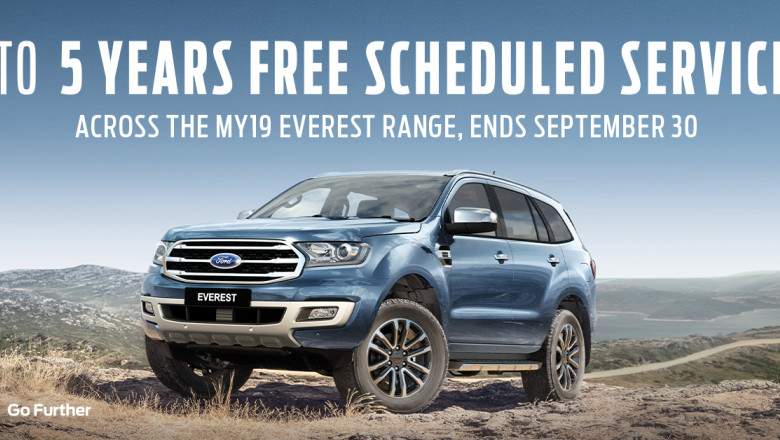 MY19 Ford Everest 5 Year Servicing Offer
