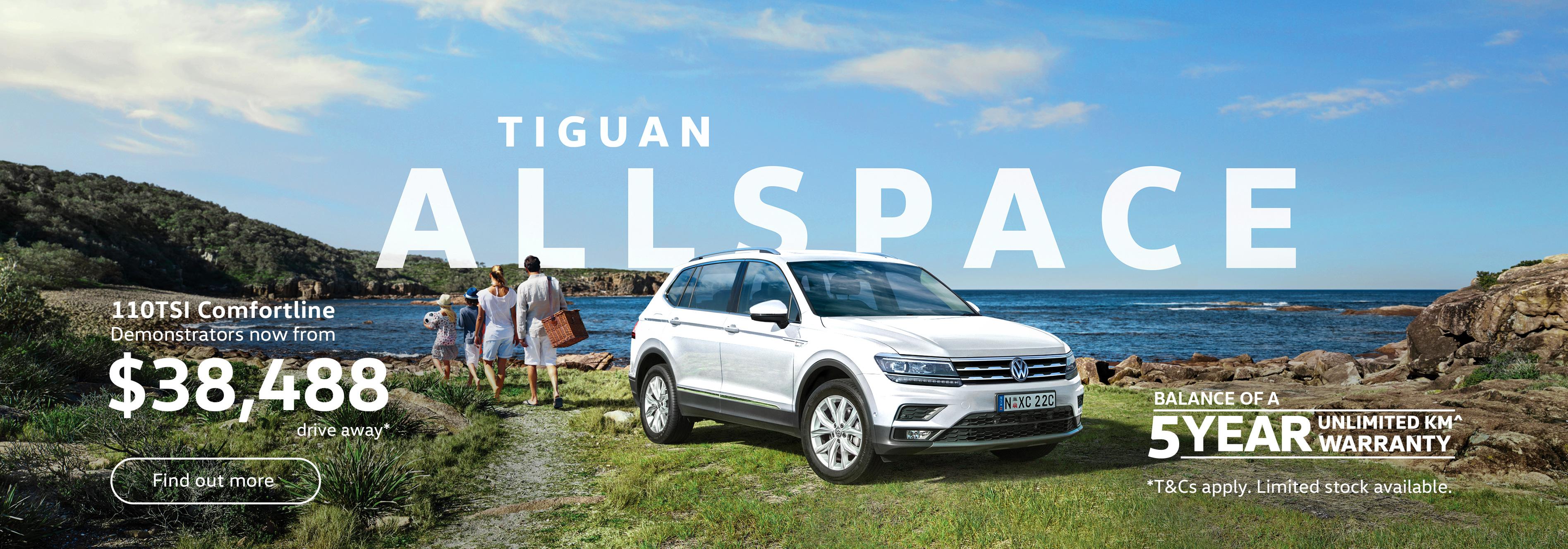 Tiguan Allspace 110TSI Comfortline from $38,488 driveaway