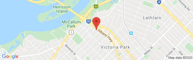 John Hughes MG - Victoria Park Map