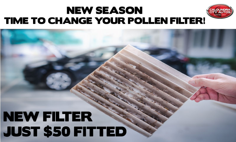 NEW SEASON - GET A NEW POLLEN FILTER FITTED FOR ONLY $50