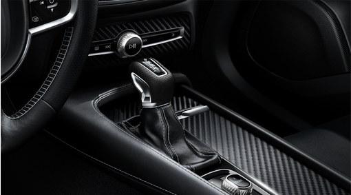 Gear shift knob, leather, AUT