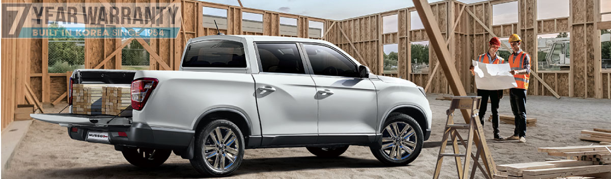 SSANGYONG | 2020 MUSSO INCLUDES 3 YEARS FREE SERVICING!