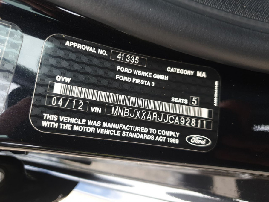 2012 Ford Fiesta WT Zetec Hatch Image 14