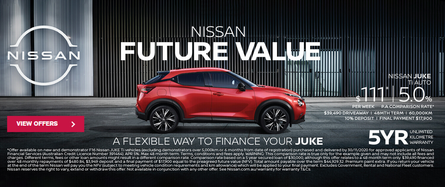 Nissan Future Value - A Flexible Way To Finance Your Juke