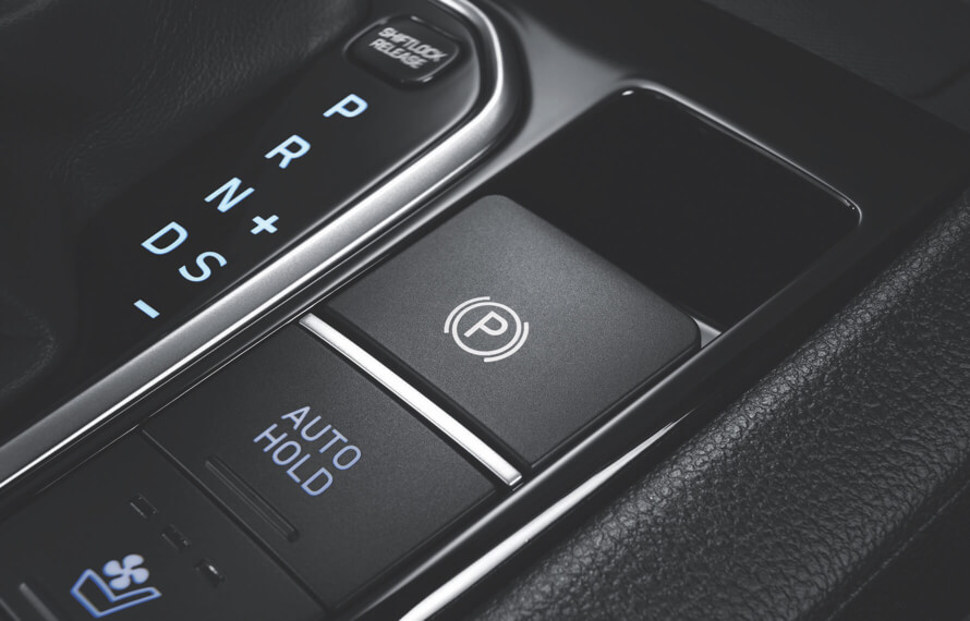 IONIQ Hybrid Electronic Parking Brake (EPB) with auto-hold function.