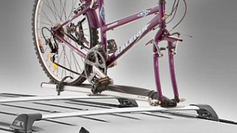 "<img src=""Roof mounted bike carrier."
