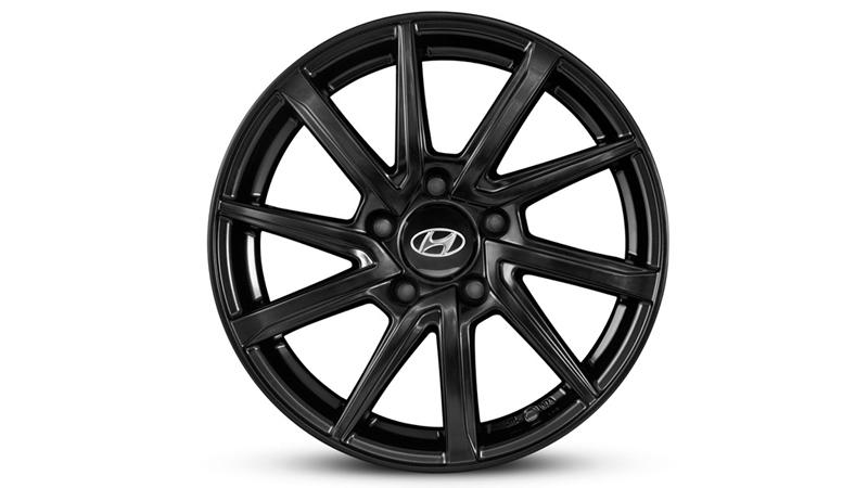 "<img src=""16"" Mokpo satin black alloy wheel."