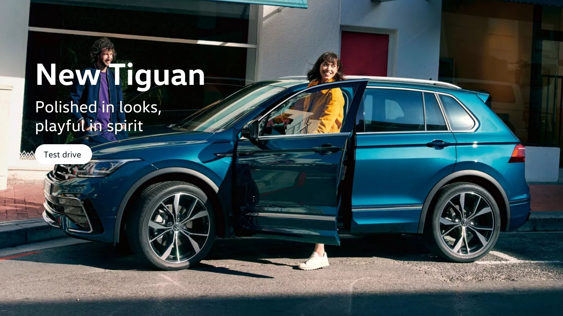 New Tiguan. Polished in looks, playful in spirit.