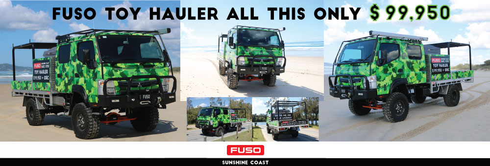 FUSO TOY HAULER LAUNCH
