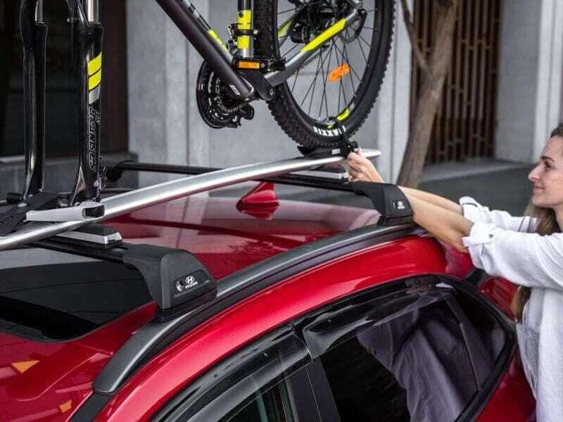 Bike carrier-wheel off.