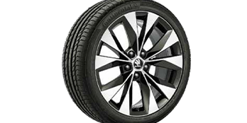 Cassiopeia brushed light-alloy wheel 8.0J x 18
