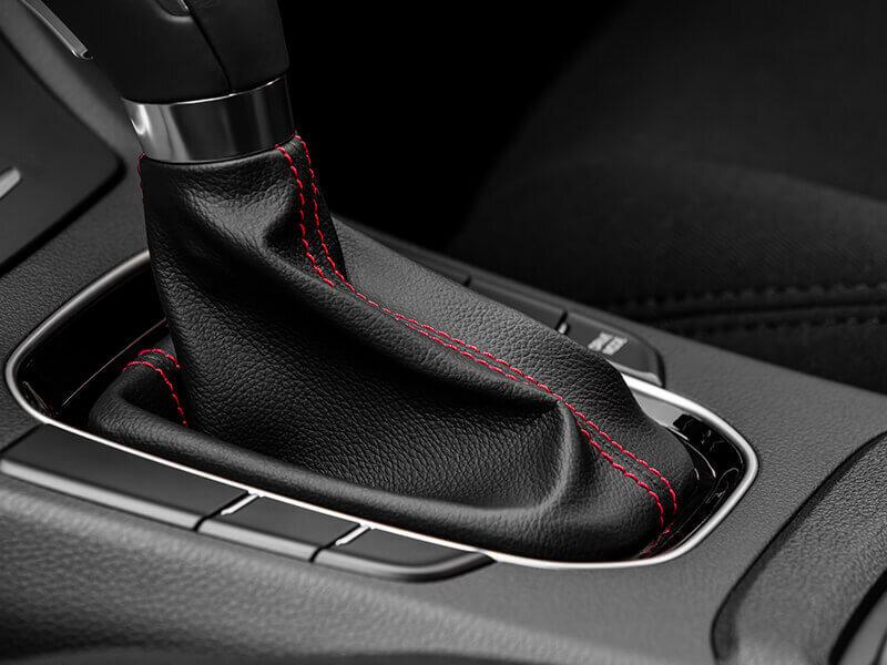 Gear boot-red stitch