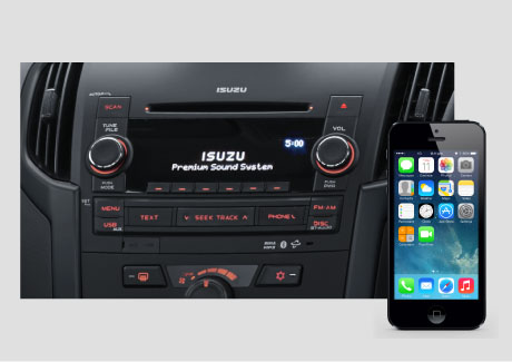 D-MAX Bluetooth® connectivity