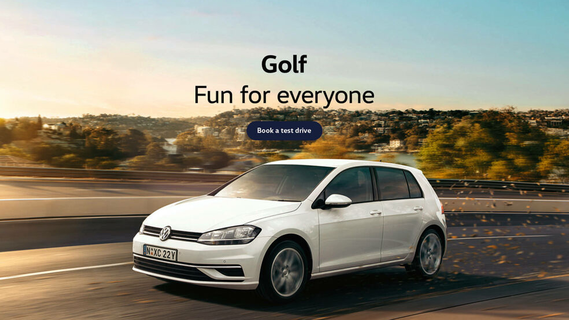 Volkswagen Golf. Fun for everyone. Test drive today at Cricks Volkswagen Sunshine Coast