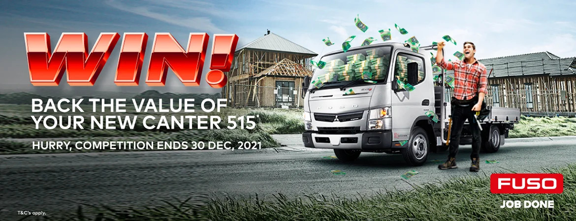 WIN BACK THE VALUE OF YOUR NEW LIMITED-EDITION CANTER 515*.