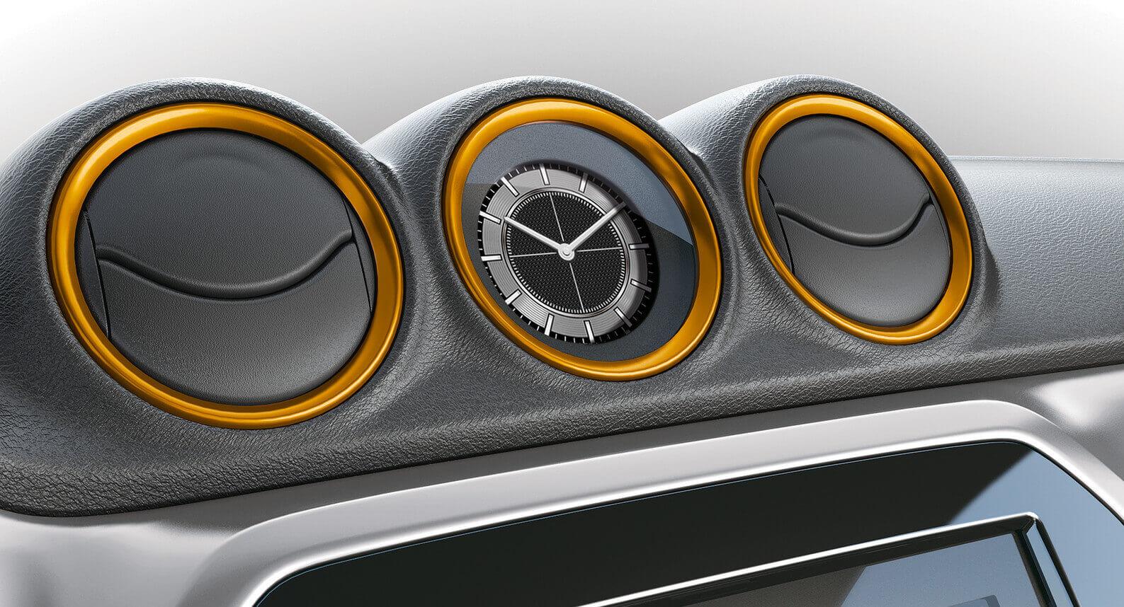 Vitara Air Conditioner Ring Set - Solar Yellow