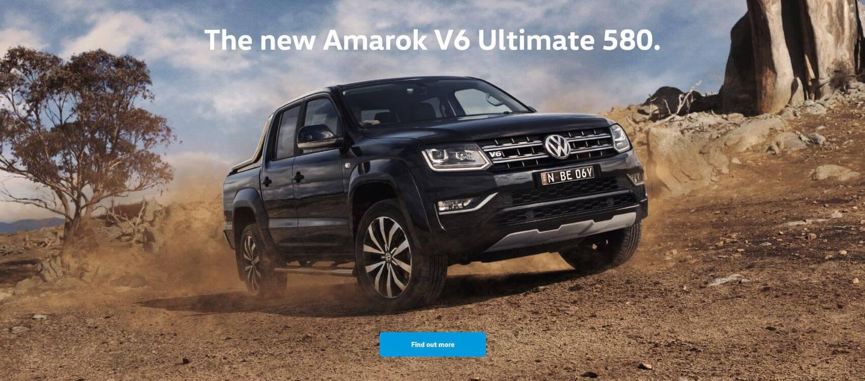 The new Amarok V6 Ultimate 580.