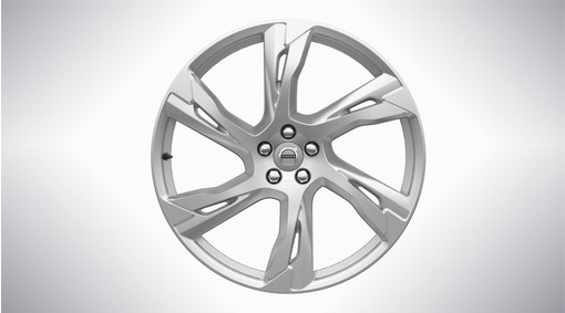 """22"""" 6-Double Spoke Silver Alloy Wheel - 800139"""