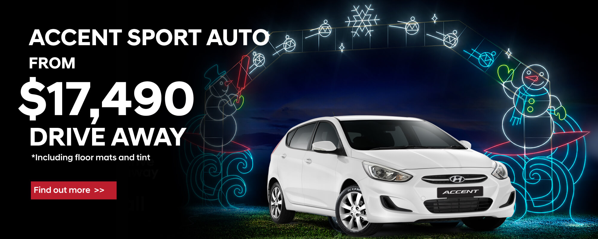 white hyundai accent sport auto hatch