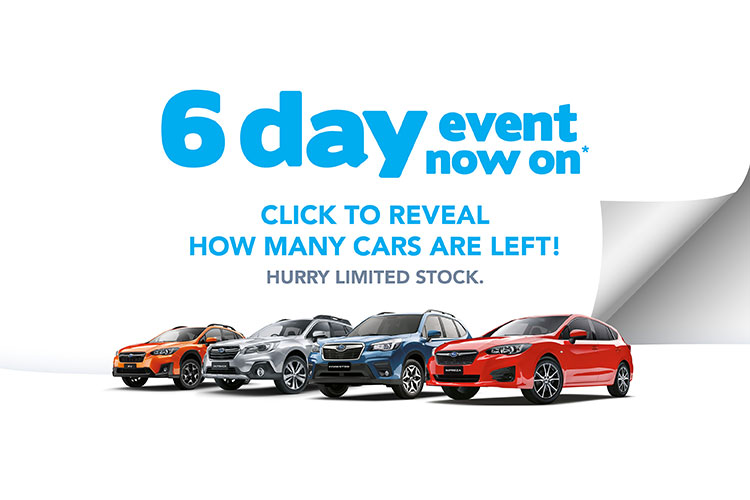 2019 Subaru stock clearance 6 day event