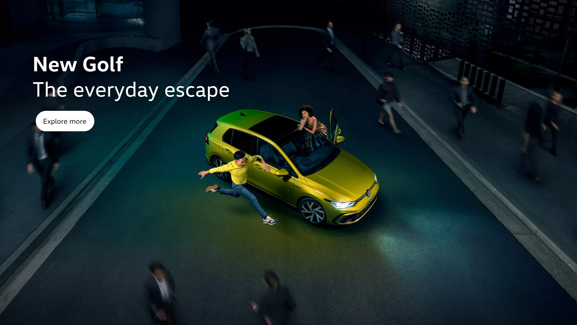 New Golf. The everyday escape.
