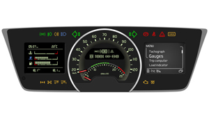 The new Volvo FH series Instrument cluster