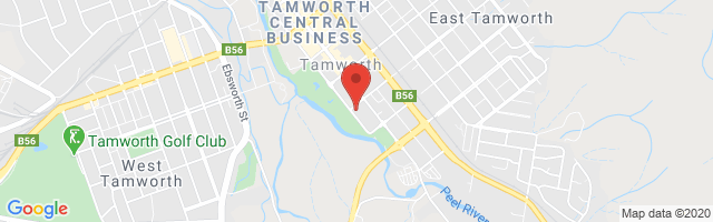 Tamworth MG Map