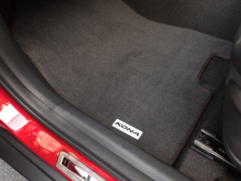 """<img src=""""Tailored carpet floor mats (set of 4) - red stitching"""
