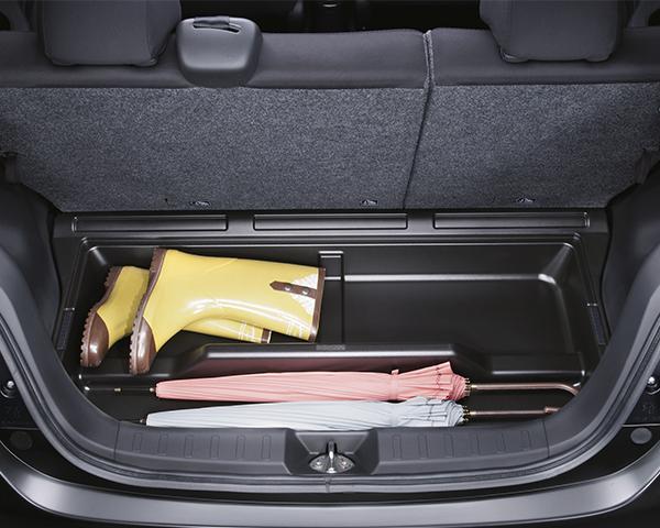 Luggage floor storage box