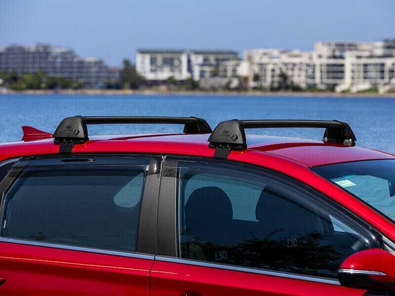 Hyundai genuine roof racks-flush