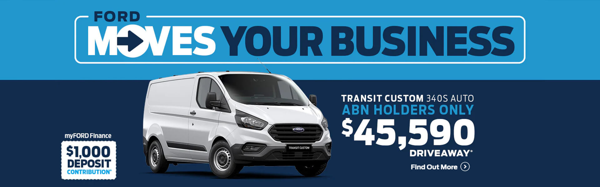 Ford moves your business. Transit Custom 340S Auto